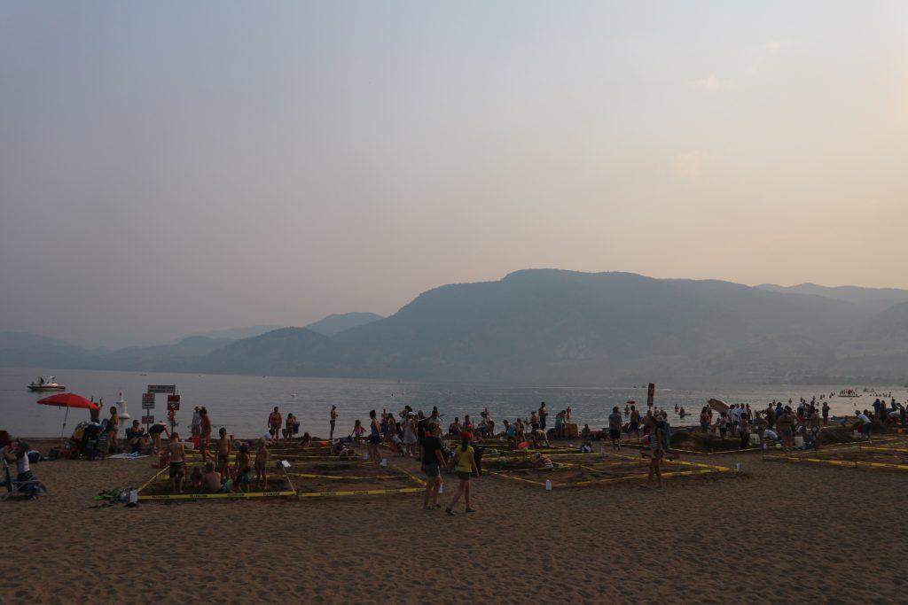 Peach Festival Sand artに集まるひとたち
